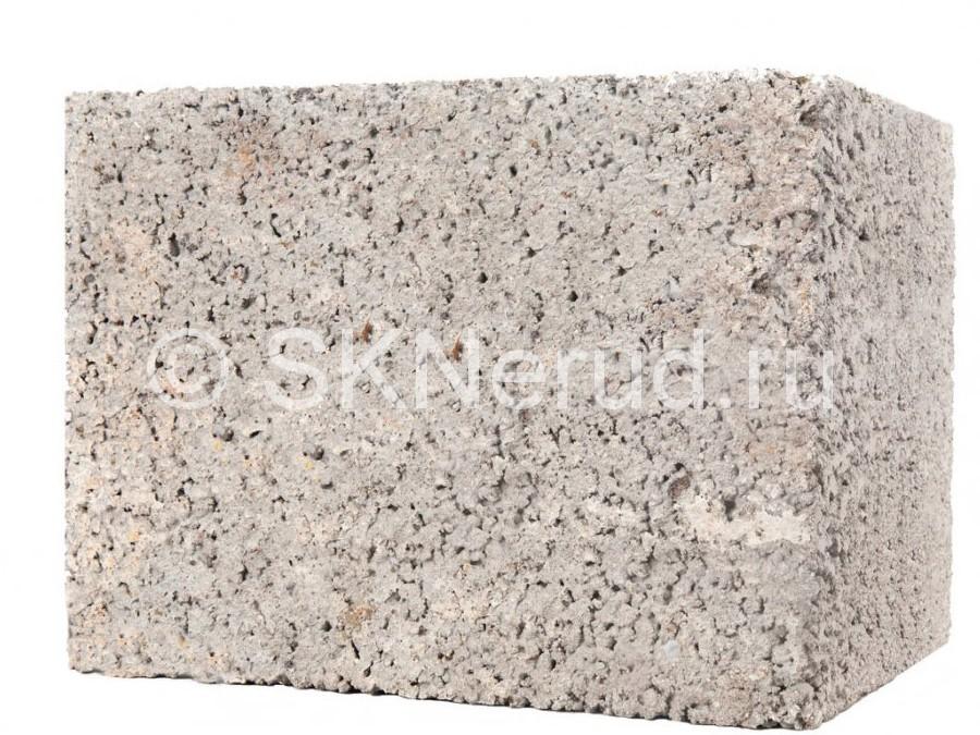 Керамзитобетонный полнотелый блок 390х280х190