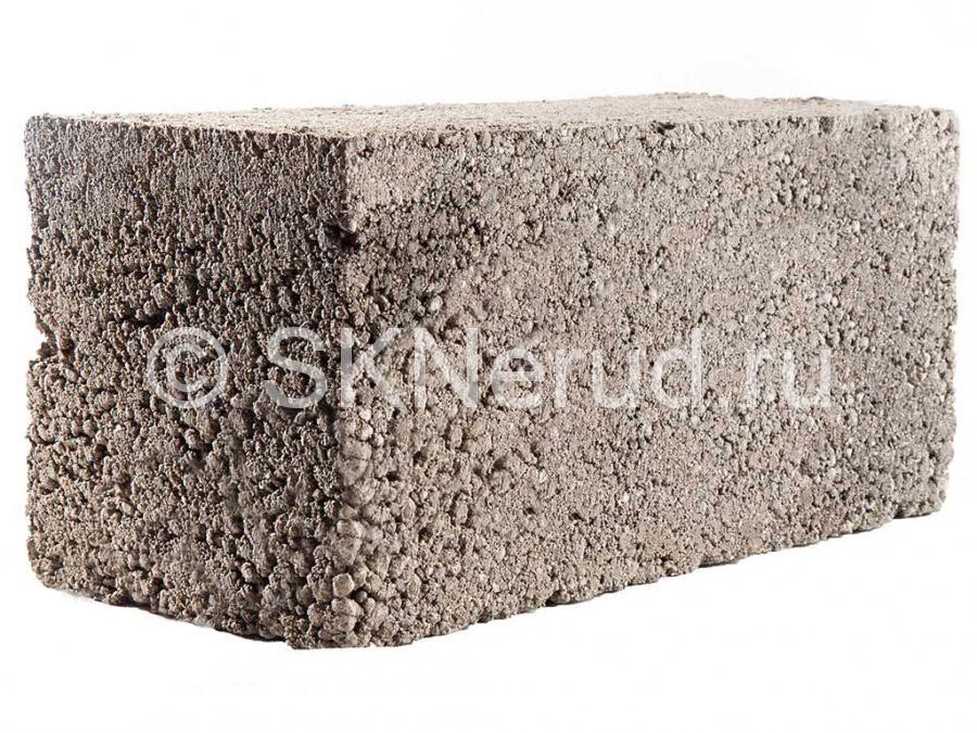 Керамзитобетонный полнотелый блок 390х190х190