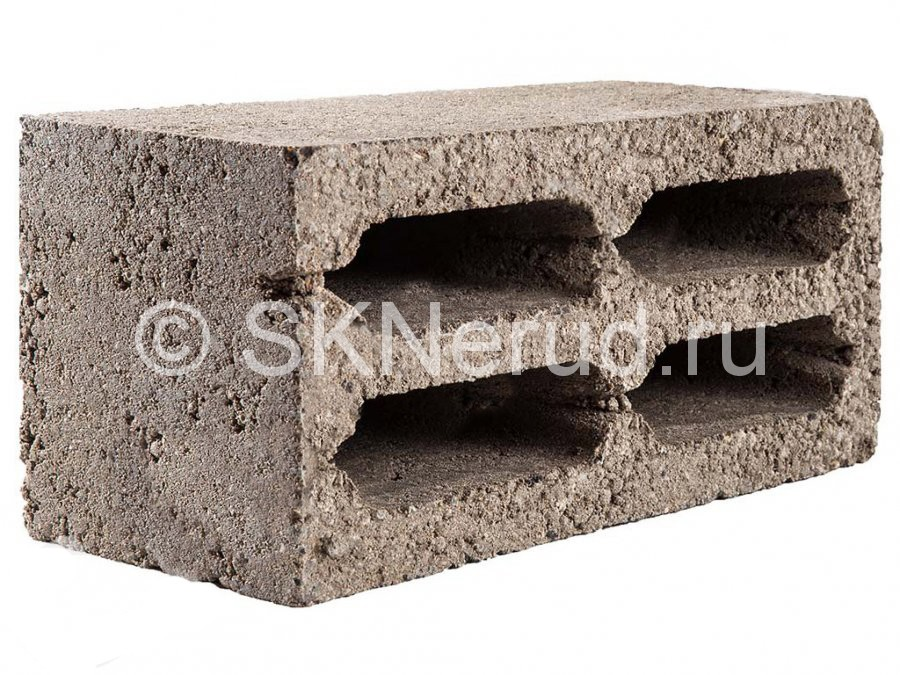 Керамзитобетонный с 4 пустотами блок М-35 390х190х190