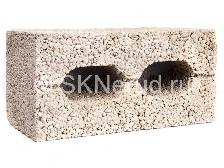 Керамзитобетонный 2-пустотный блок М50 390х190х190