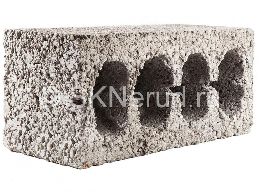 Керамзитобетонный 4-пустотный блок М50 390х190х190