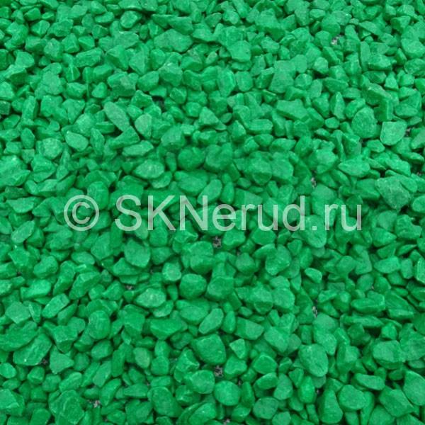 Щебень крашеный цветной Зеленый