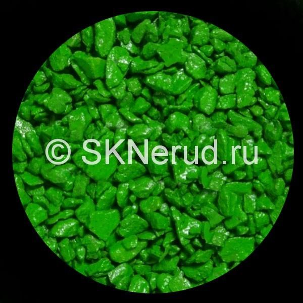 Цветной мраморный щебень (зеленый)