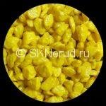 Цветной мраморный щебень (лимон)