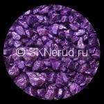 Цветной мраморный щебень (фиолетовый)